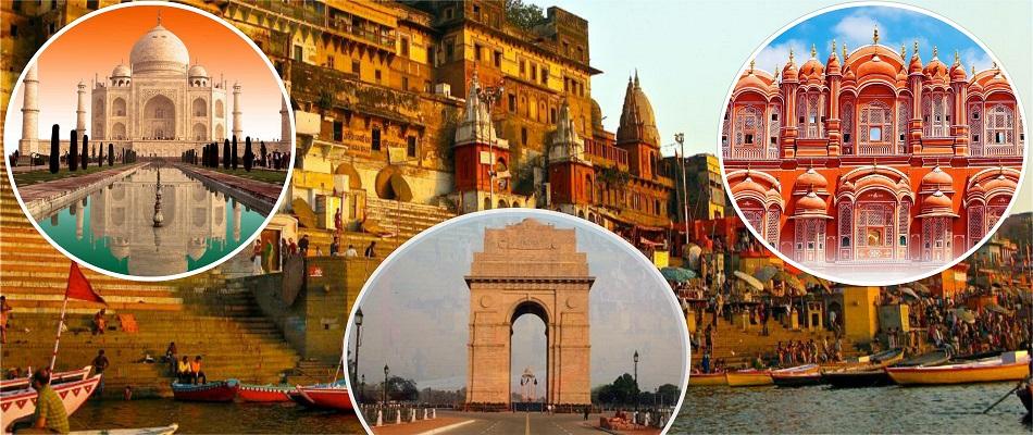 tour de triángulo de oro con varanasi India imágenes
